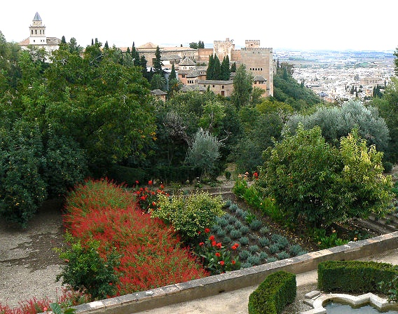 Looking down on the Alhambra Palace